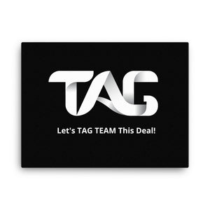 Black TAG TEAM Canvas