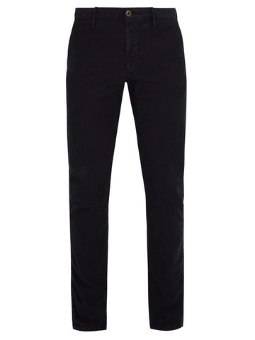 Slacks - Slim-Fit Stretch-Cotton Trousers