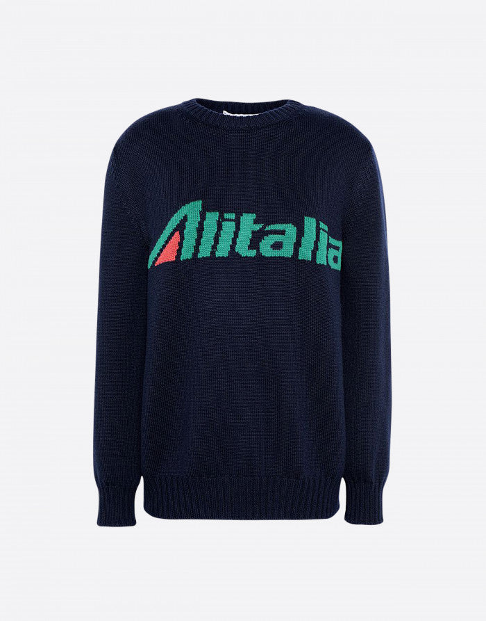 No season sweater with Alitalia logo