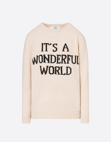 It's a wonderful world Sweater