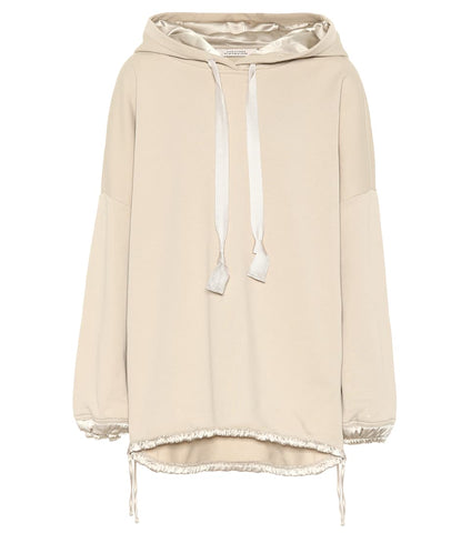Casual shine cotton hoodie