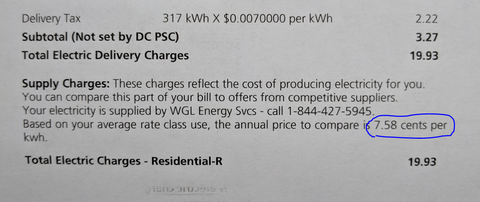 picture of electricity bill