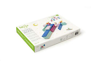Tegu Magnetic 24 Piece Wooden Block Set, Blossom