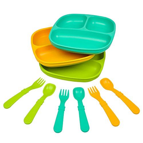 Made from Recycled Milk Jugs - Re-Play Kids Dinnerware Set