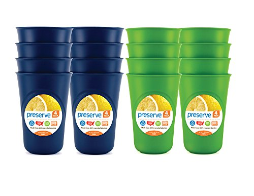 Made From Recycled Yogurt Cups - Preserve Everyday Cup Set, Blue and Green
