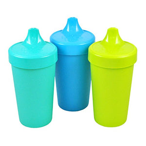 Made from recycled milk jugs - Re-Play Kids No Spill Sippy Cups 3 pack