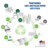 Printworks 100 Percent Recycled Multipurpose Paper Printworks 100% Recycled Paper - From Old Coffee Cups to Your Printer, 8.5 x 11 Inches, 400 sheets