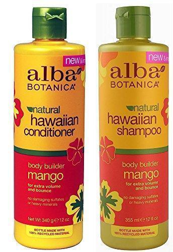 Alba Botanica Shampoo and Conditioner, 100% Recycled Plastic - Look, Smell, Feel Great while Diverting Plastic from the Landfill, 12-Ounce Bottle