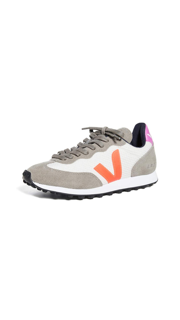 Veja Women's Riobranco Sneakers, Gravel/Orange Fluo/Ultraviolet, 37 M EU