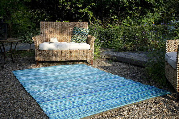 Outdoor Rug - 100% Recycled Plastic,  Durable & Eco-Friendly - Fab Habitat Indoor/Outdoor Rug