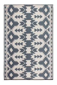 Fab Habitat Reversible Rugs | Indoor or Outdoor Use | Stain Resistant, Easy to Clean Weather Resistant Floor Mats | Miramar - Gray, 4' x 6'