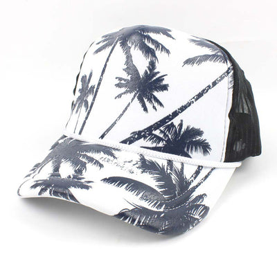 Cap Breathable Quick-Drying Coconut Tree Mesh Baseball Cap