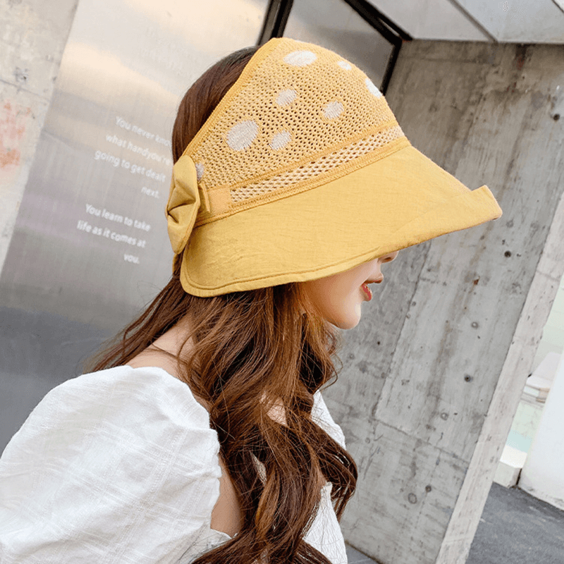 30% OFF Trendy Lady's Folding Shade Sunscreen Top Hat