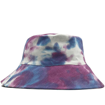 2020-Tie-Dye Fisherman Hat Sunscreen Color Rendering Street Sun Tide Hat