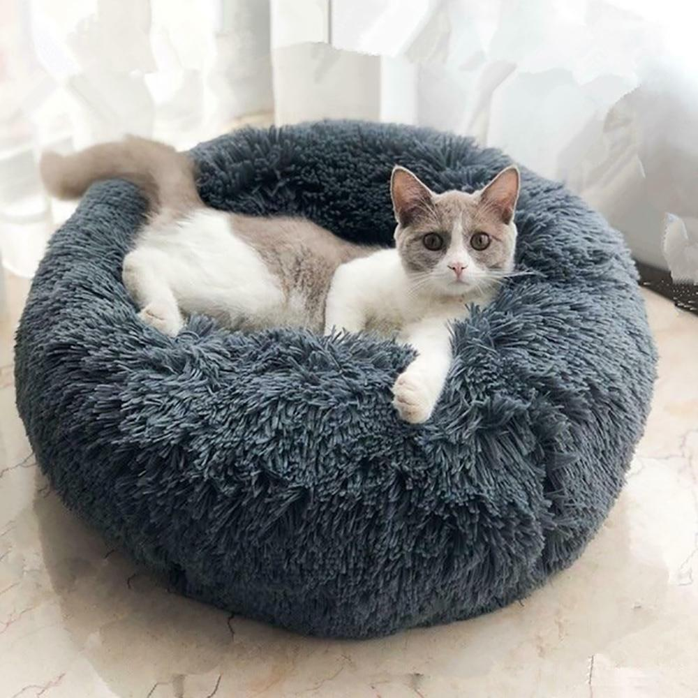 5 Colors Round Plush Pet Mat & Soft and Comfortable Cat Litter