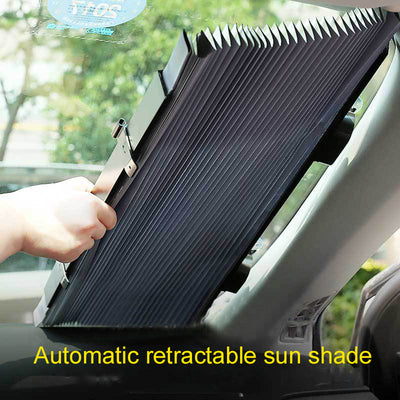 Car Retractable Sun Visor Automatic Retractable Front Sunshade Car Sun Protection/Heat Insulation Sun Block