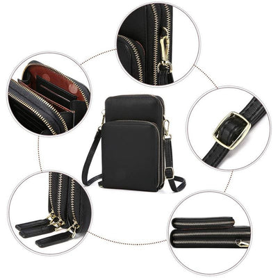 Three-Layer Large-Capacity Mobile Phone Bag Multi-Card Position Lady Diagonal Storage Bag