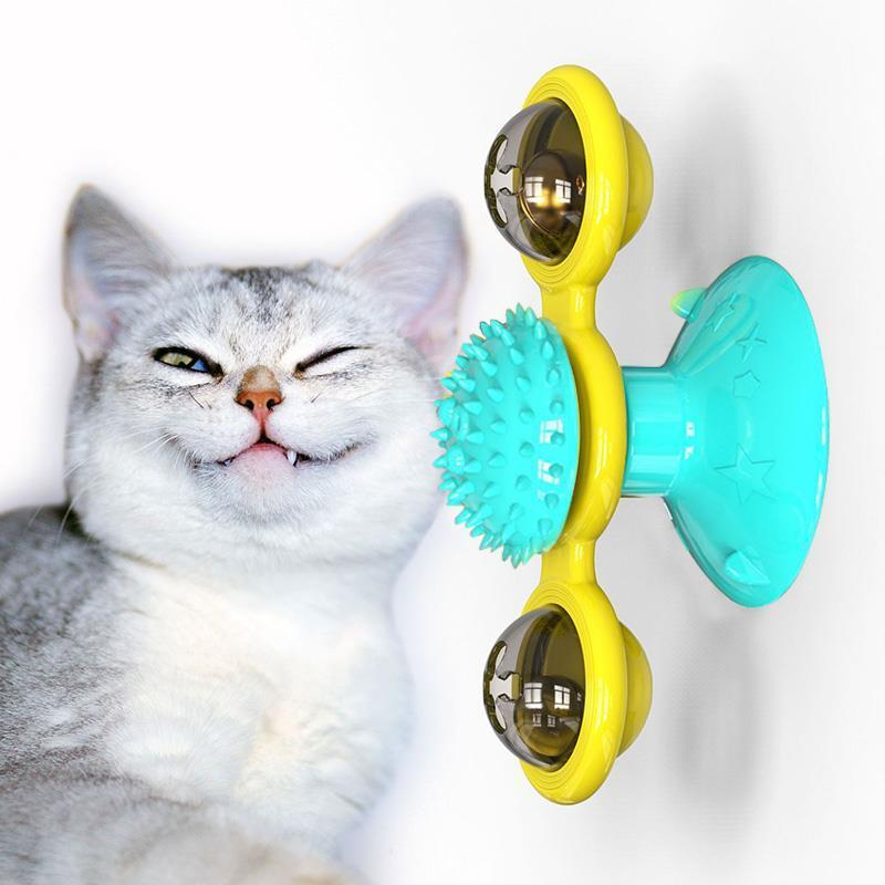 Best Gift For Your Cat---Windmill Cat Toy Turntable