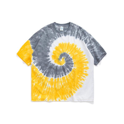 【$20 OFF】Spiral tie-dye loose short sleeve T-shirt