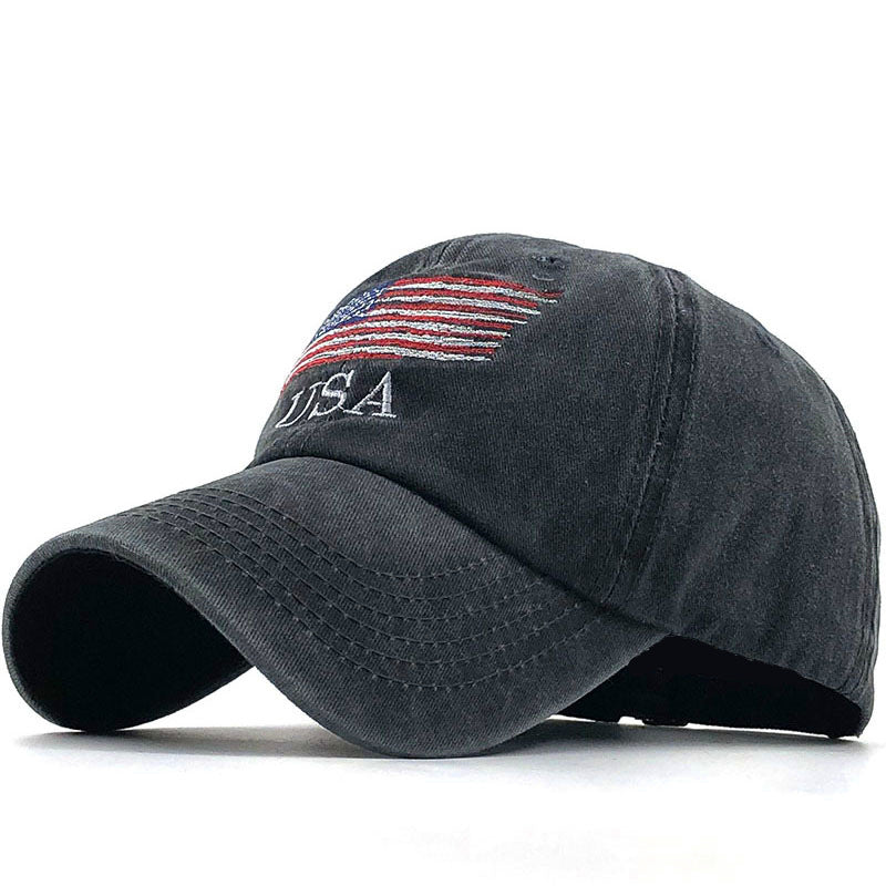 all-match trendy men and women American flag cotton hat