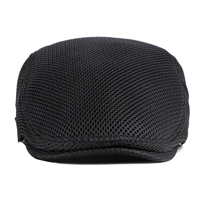 [BonnieRoad] Solid color mesh cap leisure sunscreen beret