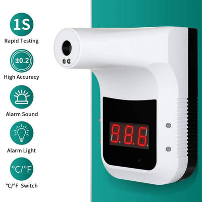Non-Contact Hanging Bracket Wall Type Automatic Thermometer Forehead Gun Intelligent Human Body Induction Electronic Thermometer