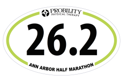 26.2 Decal, Ann Arbor Marathon