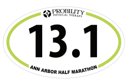 13.1 Decal, Ann Arbor Marathon