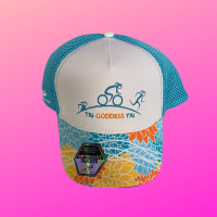 Tri Goddess Trucker Hat - Blue