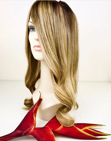 Blonde colour Brazilian Human hair wig