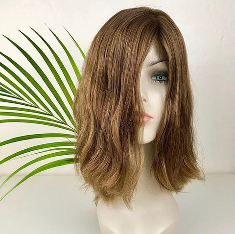 Golden brown Remy European human hair wig