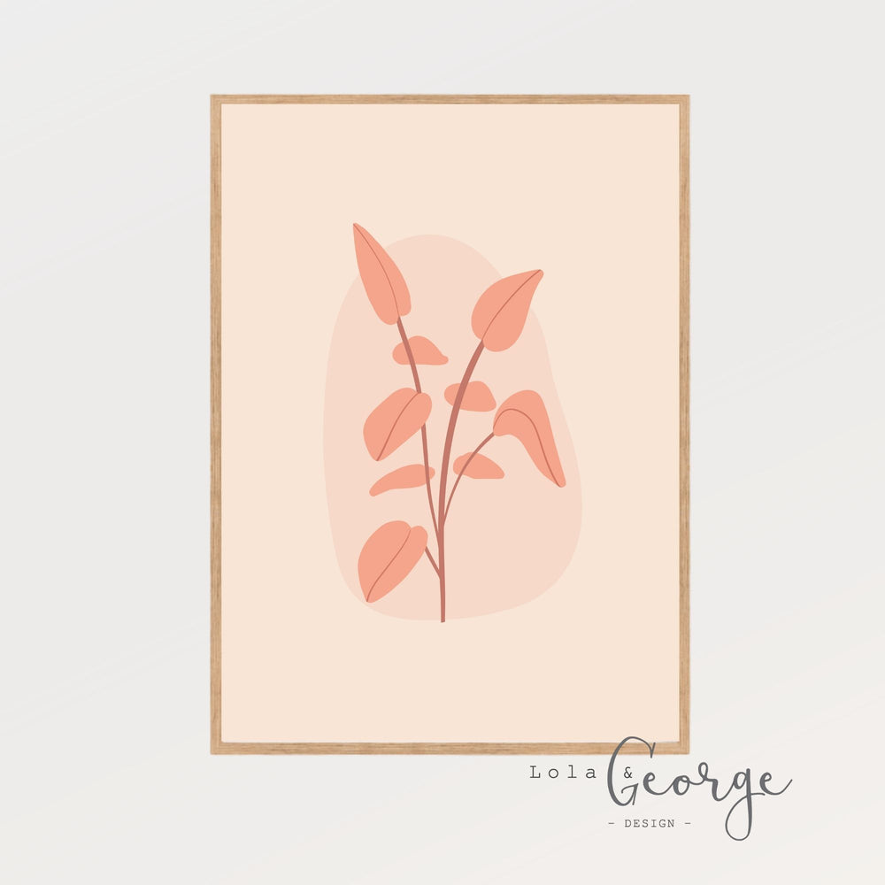 Lola & George Blush Stem Print - Wall Art Decor A3