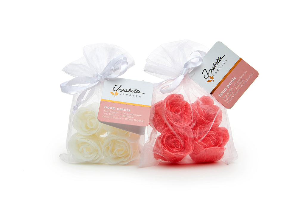 Isabelle Laurier - Confetti Rose Shaped Soap in Organza Bag (Paraben Free) - 4pcs