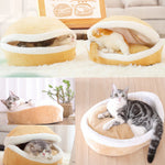 Clam Shell Pet Bed for Cats