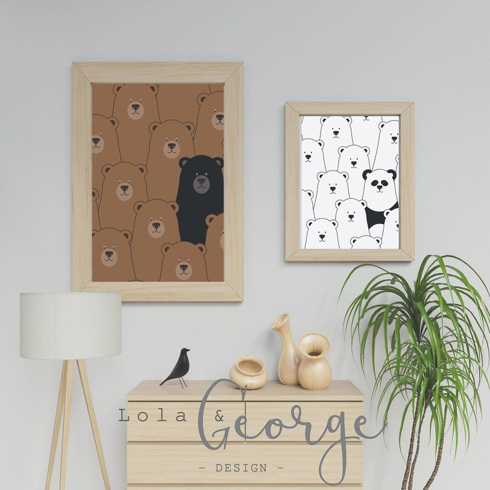 Lola & George Standout Panda - Wall Art Decor A3