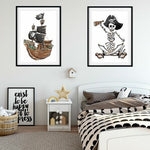 Lola & George Ahoy! Captain - Wall Art Decor A3