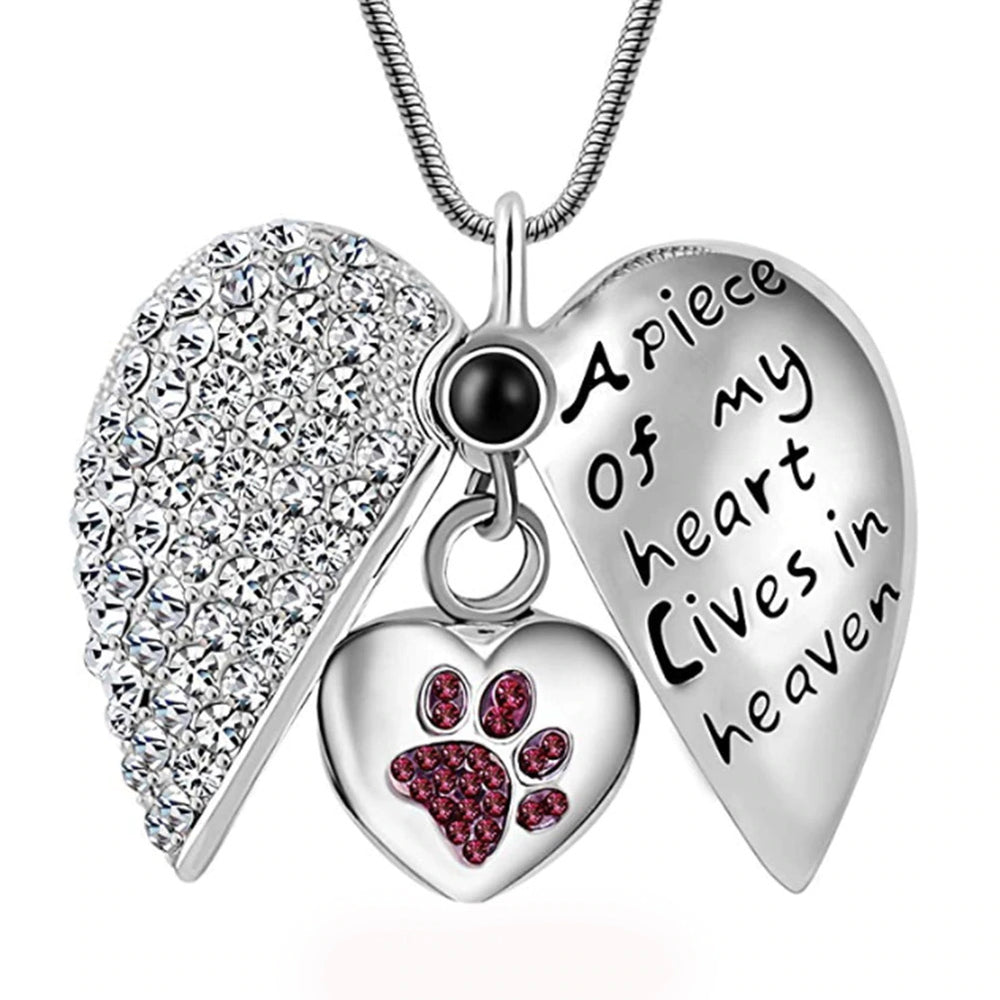 Pendant Necklace & Pet Memorial Urn (for ashes) - Keepsake Jewellery