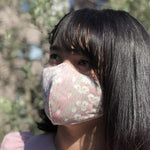 Japanese-Made Kimono Vintage Face Mask - SHIRA YURI no SONO