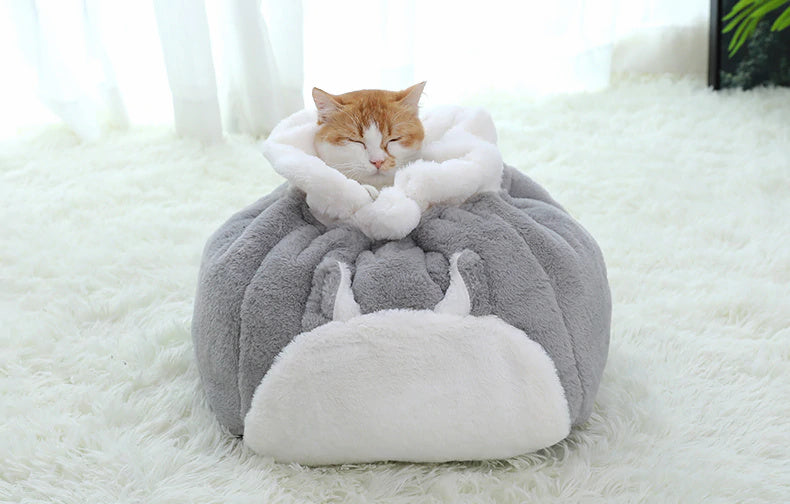 Cushy Drawstring Sack Bed for Pets