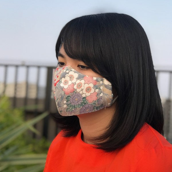 Japanese-Made Kimono Vintage Face Mask - UME NO MAI