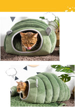 Caterpillar Pet Bed for Cats & Dogs