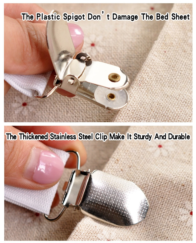 4pc Set of Bed Sheet Clips
