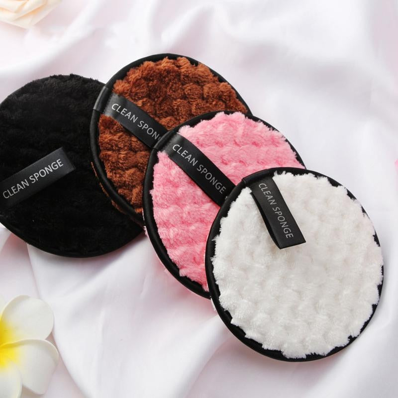 4pcs Microfibre Reusable Make-up Remover Pads