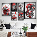 Canvas Painting - Japanese Bushido Wall Art HD Print