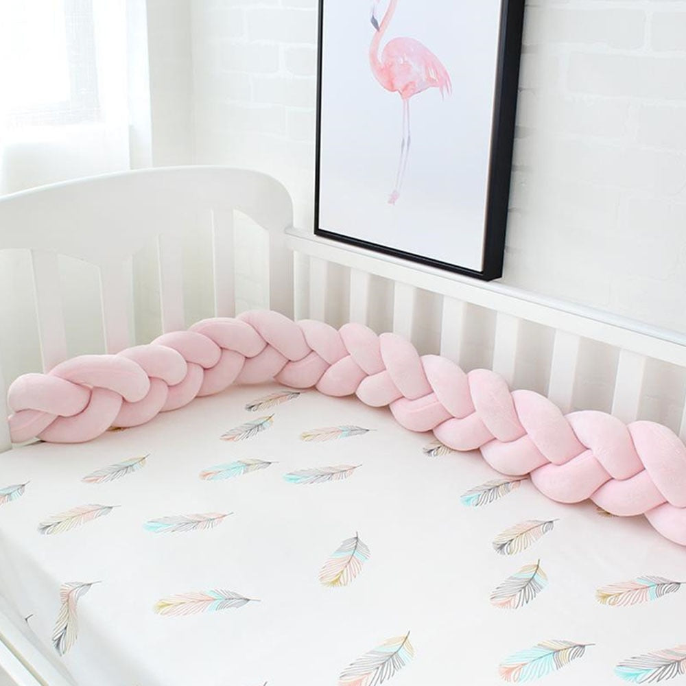Baby Crib Bumper - Handmade Knotted (Nordic style) avail. 1m, 2m or 3m