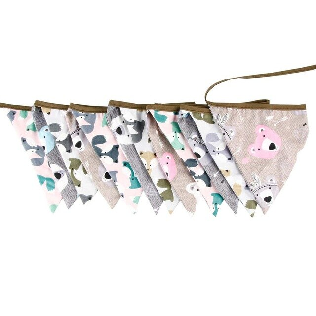 Cotton Flag Bunting -  3m length