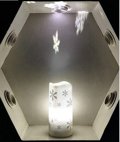 LED Snowflake Candle & Nightlight