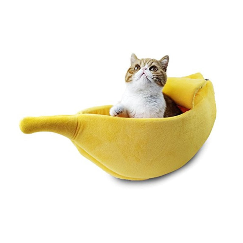 Banana Pet Bed with Peelable Cover - for cats and dogs (L & XL)