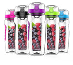 900ml Fruit Infuser Juice Shaker Water Bottle