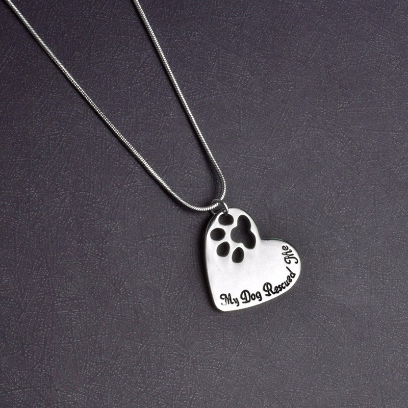 Heart Shaped Dog Pendant